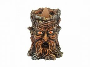Aged Oak Green Man Backflow Incense Burner Wiccan Pagan Decor Altar